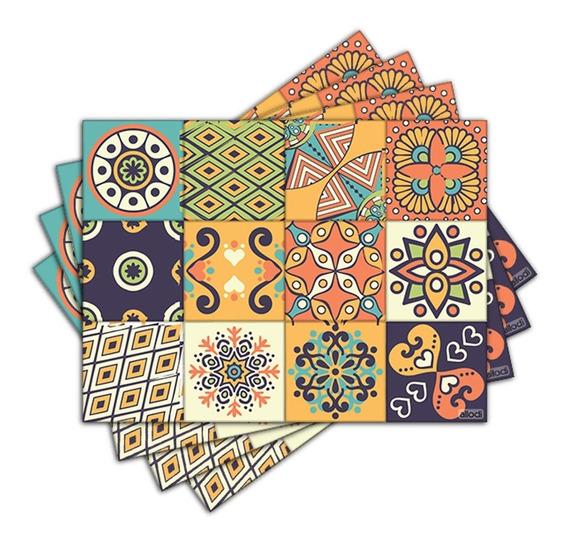 Jogo Americano Com 4 Un. - Floral Drawing - N1149