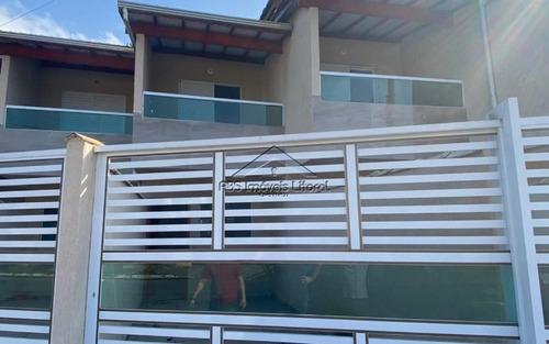 Imagem 1 de 15 de Casa Nova Com Sacada Na Vila Caiçara Em Praia Grande - Sp