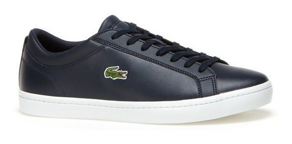 Tenis Lacoste Straightset Hombre Negro Casual