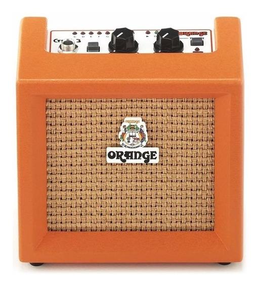 Amplificador Para Guitarra Orange Cr3 - Micro Crush 3w - A Bateria - Con Afinador Incorporado