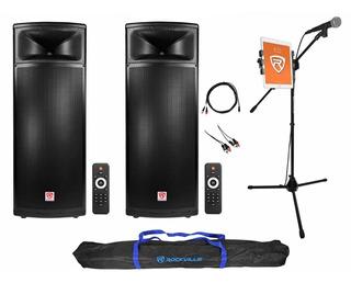 Karaoke Machine System W/(2) Dual 15 1500w Speakers Nuevo