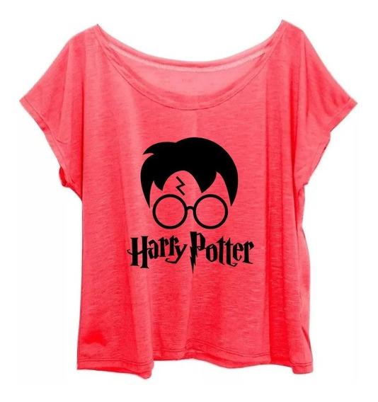 Blusa Blusinha Feminina Plus Size Estampa Harry Potter G3