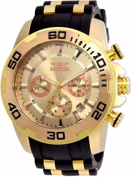 Relógio Invicta Pro Diver Mens Quartzo 50mm Gold Dial