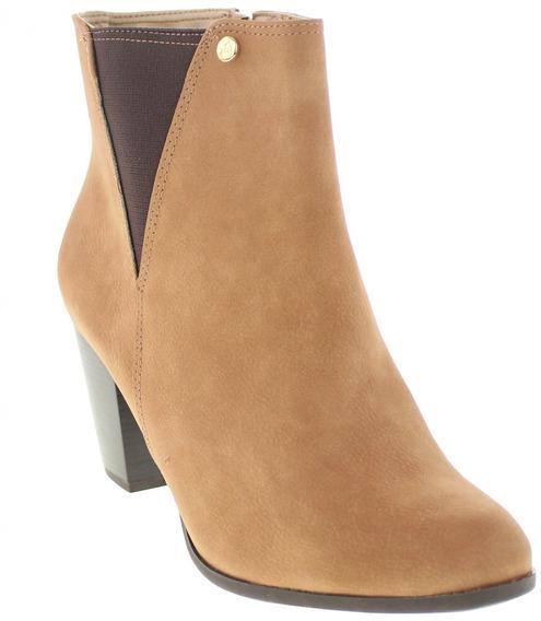 Bota Ankle Boots Via Marte 17-19702 Marrom Amarelado