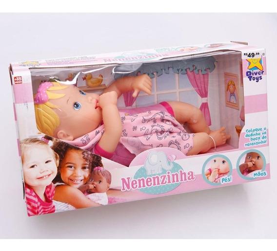 Boneca Baby Branca Nenenzinha - Divertoys Promoção
