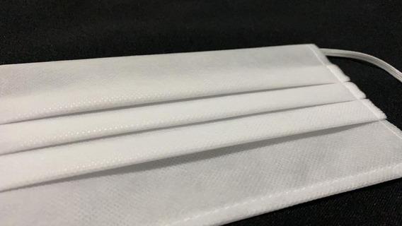 Cubrebocas Tricapa Plisado (50 Pzas) , Color Blanco.