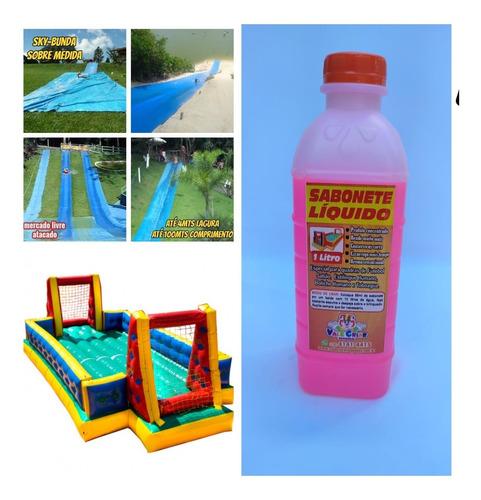 Imagem 1 de 10 de Sabonete Liquido Especial P/quadra De Fut.sabão Kit C/03lts