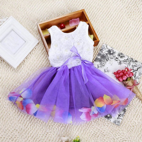 Vestido De Menina Princesa 9 A 12 Meses - Violeta Clara - G