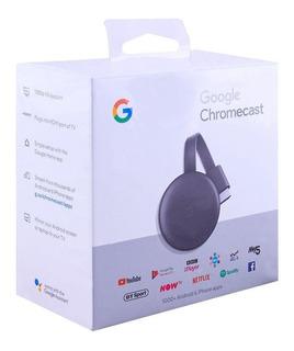Chromecast 3 Generacion Netflix Youtube Smart Tv Hdmi Wifi