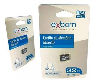 Cartão De Memória 32gb Classe 10 Microsd