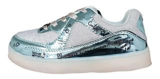 Zapatillas Footy Luz Led Y Usb Hologram Grafitty Fty Calzado