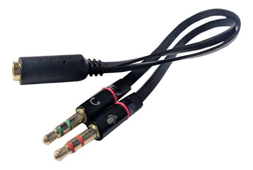 Imagem 1 de 5 de Cabo De Áudio Adaptador 1 - P3(fêmea) X 2 - P2(macho)