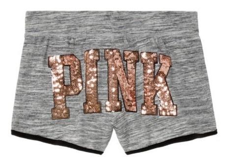 Short Negro Pink Lentejuelas Oro Rosado M Victoria