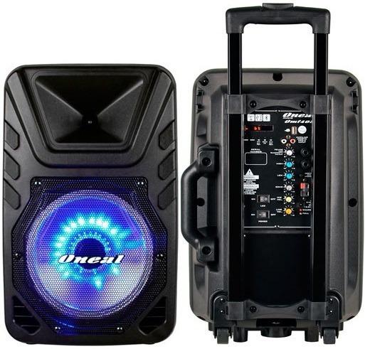 Caixa Portátil Com Bateria, Bluetooth Usb 110w Microfone