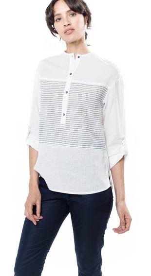 Camisa Blanca Rayada Giacca