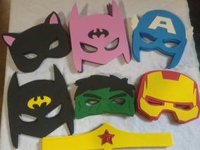 Máscaras Hérois Marvel E Dc Em Eva 30 Unidades