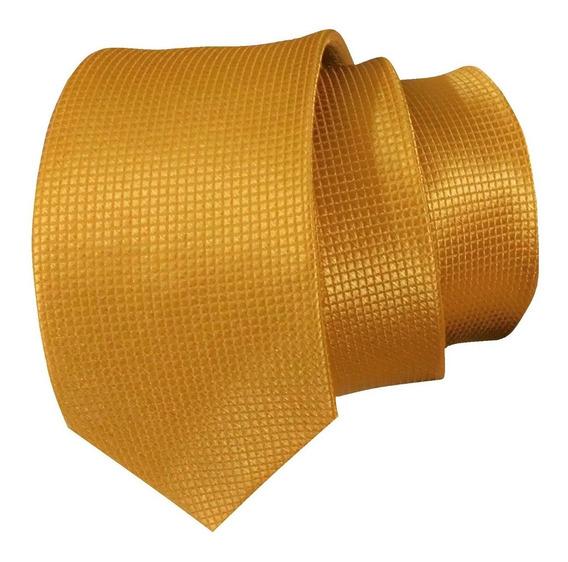 Corbata Slim Color Dorada Para Caballero Sp0012