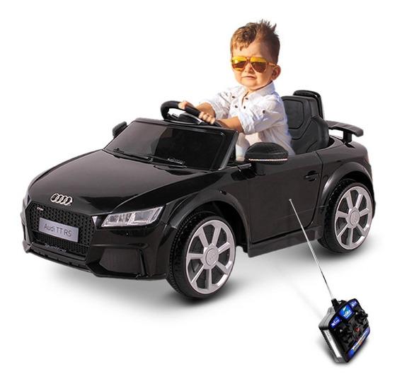 Carro Elétrico Infantil Audi Tt Rs Preto 12v Com Entrada Mp3