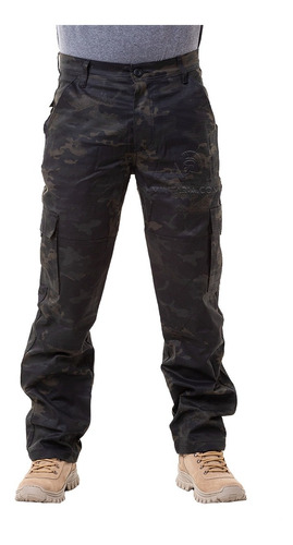 Imagem 1 de 6 de Calça Militar Tática Masculina 06 Bolsos Reforçada Rip Stop