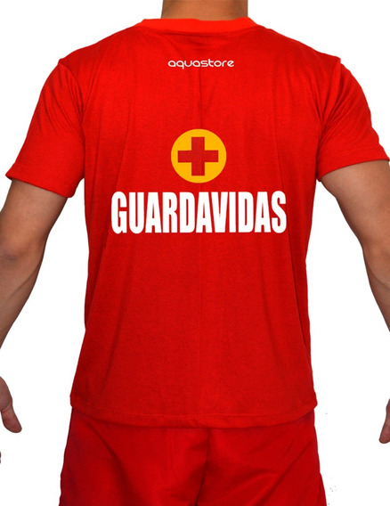 Remera Guardavidas Ropa Trabajo Lifeguard Unisex Rescate ´19