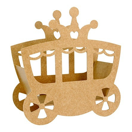 Carruaje Princesa Centro De Mesa Madera,xv Años Bodas,baby