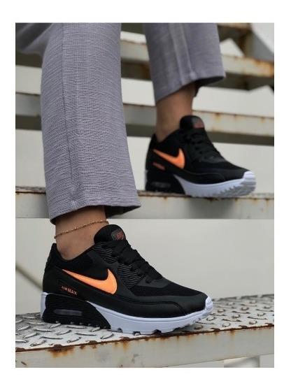 Zapatos Tenis Nike Air Max Ultra N Naranja Dama Envio Gratis