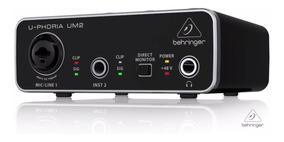 Interface Audio Usb C/ Phantom Power Behringer U-phoria Um2