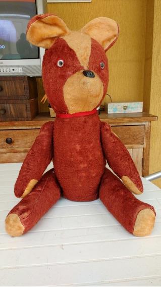 Urso De Pelúcia Antigo 68cm