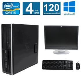 Computador Hp Elite 8100 I5 4gb 120ssd Monitor 17 Polegadas