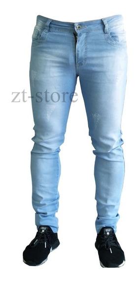 Calça Jeans Sarja Masculina Skinny Slim