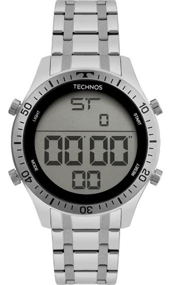 Relogio Digital Technos Masculino Grande Prata T02139ac/1c