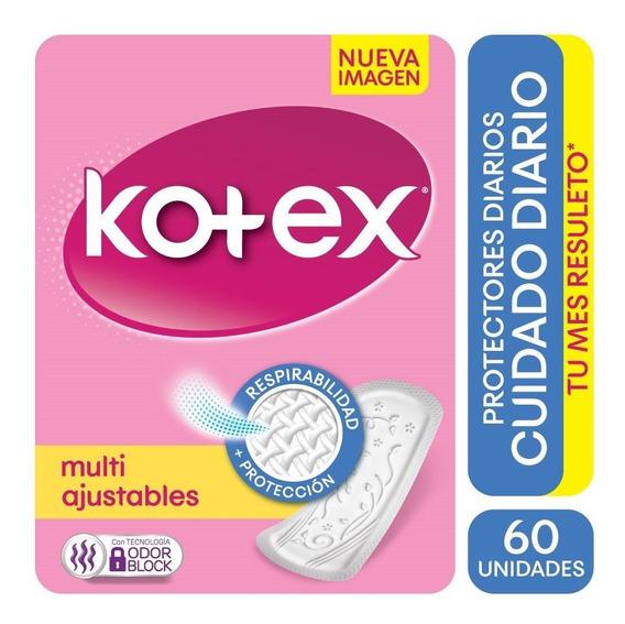 Protector Diario Kotex Cuidado Diario Multiestilo X 60
