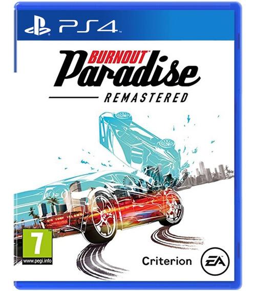 Jogo Novo Midia Fisica Burnout Paradise Remastered Para Ps4