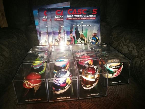 Coleccion Cascos Grandes Premios N°1 Al N°15(menos El 13)