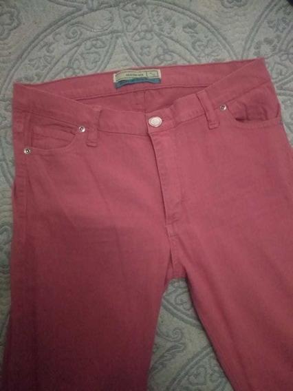 Pantalón De Jean Desiderata Color Cereza Nuevo Oportunidad