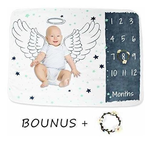 Manta De Hitos Para Bebes, Mantas Unisex Para Bebes Mensuale