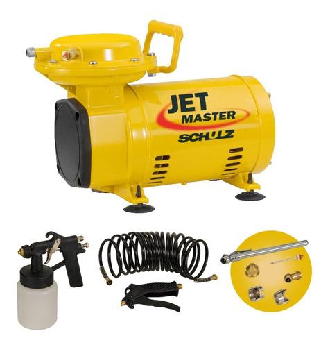 Compressor De Ar Direto C/ Kit Jet Master Schulz