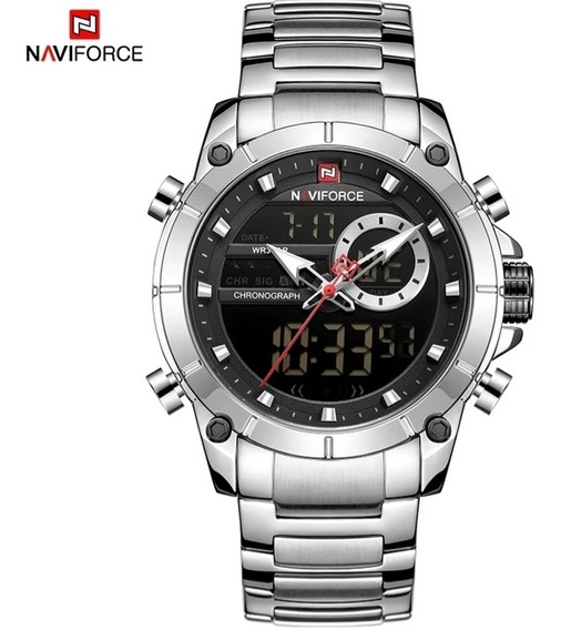 Relógio Original Naviforce Prata | A Pronto Entrega!
