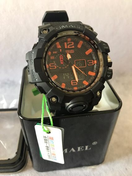 Relógio Camuflado Esportivo Militar Smael Na Caixa Original