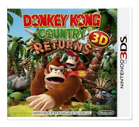 Donkey Kong Country Returns 3d - Nintendo 3ds - Usado