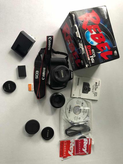 Canon Rebel T6i + 2 Lentes + Bateria Extra Baixei Mais!