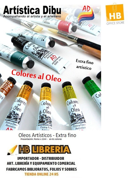 Colores Al Oleo Ad Profesional Pomo 22ml Pack X6 Grupo 2