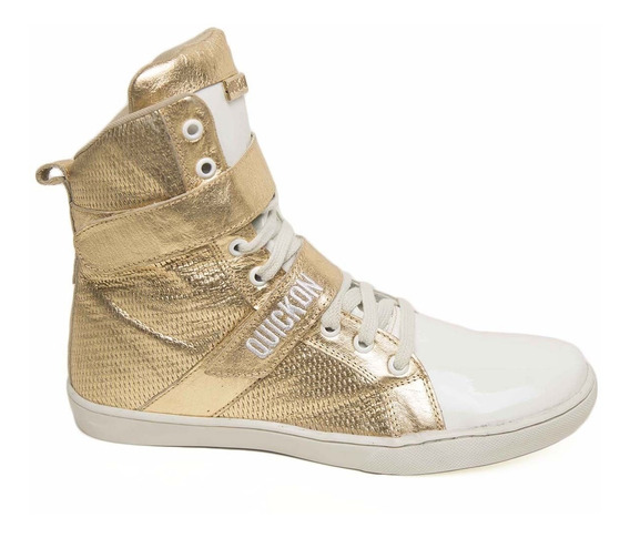 Bota De Treino Sneakers Fitness Feminina Quickon Diamond +nf