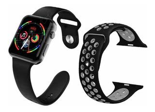 Relógio Smart Watch Iwo 10 Preto Duas Pulseiras Ios Andro