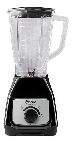 Imagen 1 de 3 de Licuadora Oster BLSTKAP 1.25 L negra con jarra de plástico 220V