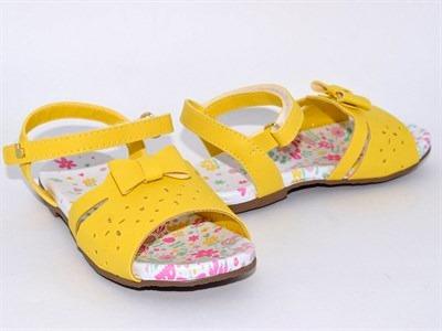 Sandalia Bibi Baby Birk Amarelo Amarelo