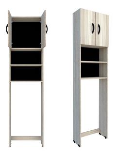 Armário Multiuso Para Banheiro Com 2 Portas Mdp Cores Nobres