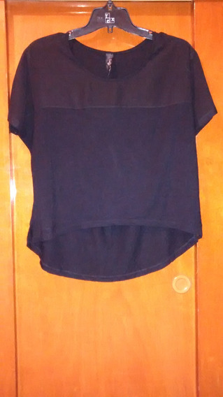 Remera Negra Irregular Ona Saez (impecable!!)