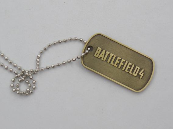 Colar Corrente Cordão Plaquinha Bf4 Estilo Militar