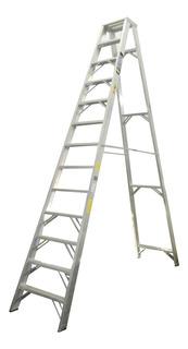 Escalera Tijera Tipo Ia Aluminio 13 Peldaños / 4.00 Metros